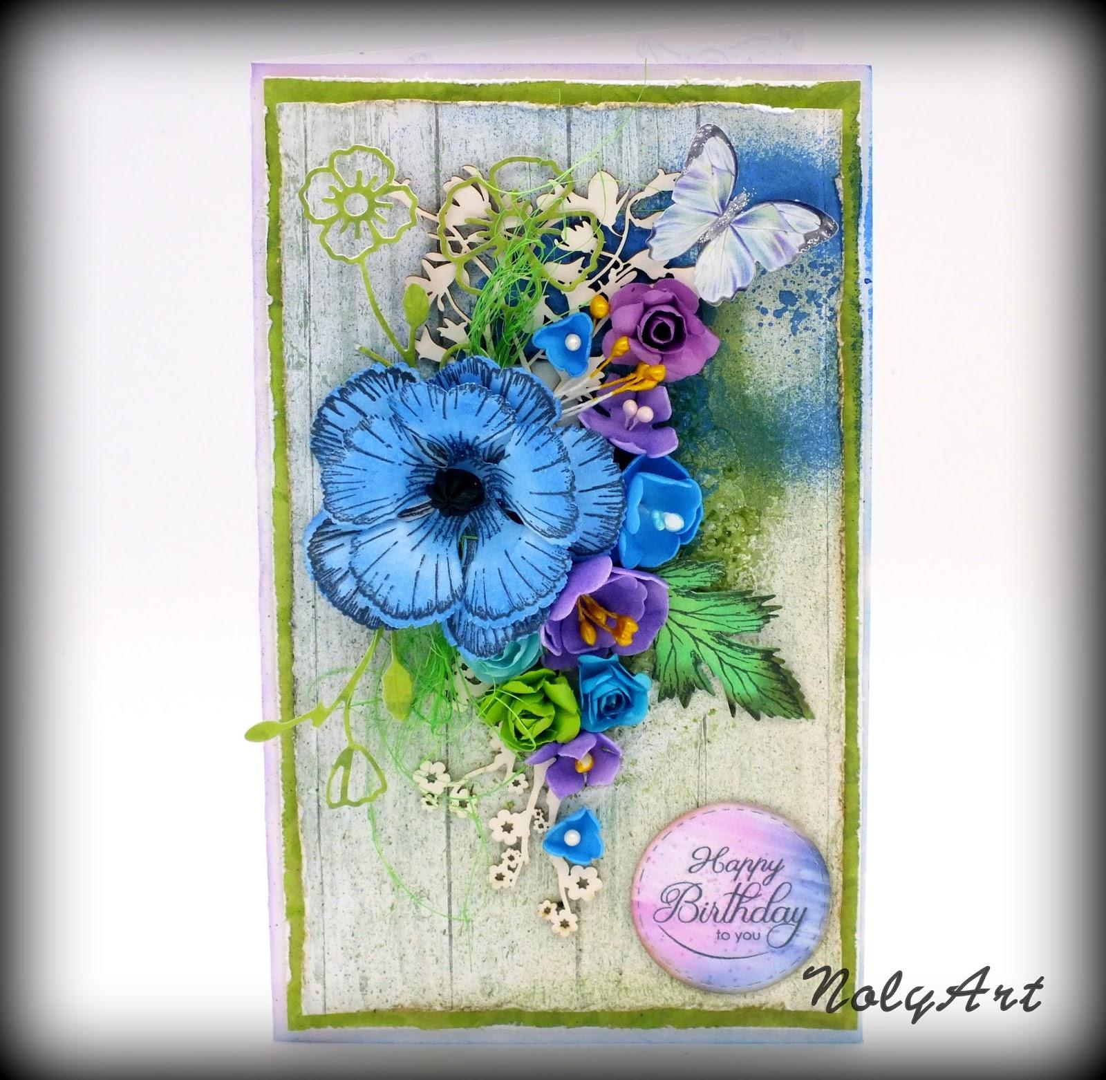 Handmade By Nolyart Foamiran Flowers On Cards