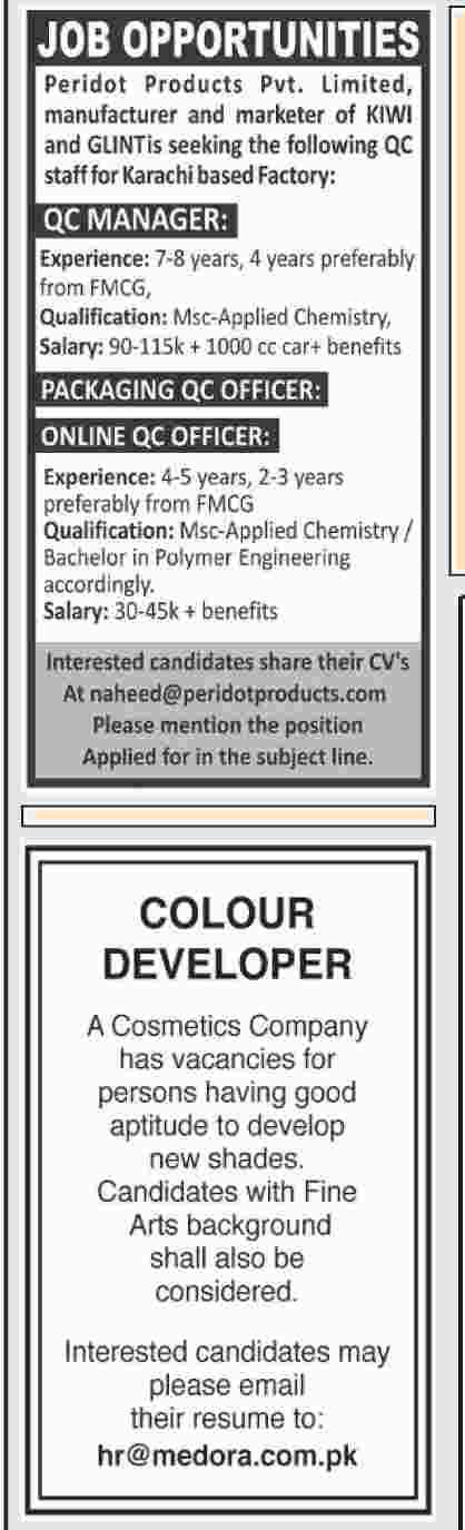 Dawn Newspaper Jobs 27 January 2019