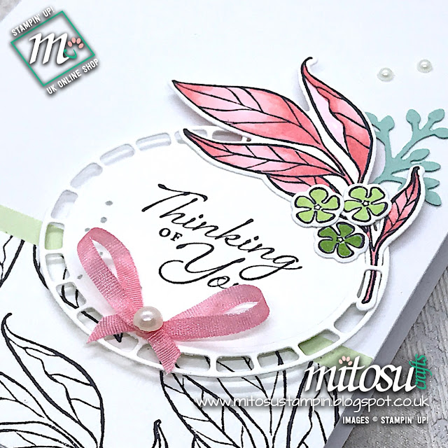Wonderful Romance Floral Bundle Stampin' Up! Card Idea. Order papercraft products from Mitosu Crafts UK Online Shop