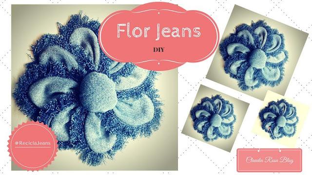 Faça você mesmo: flor jeans de retalhos