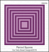 ODBD Custom Pierced Squares Dies