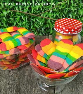 Ide Resep Kue Kering Lidah Kucing Rainbow