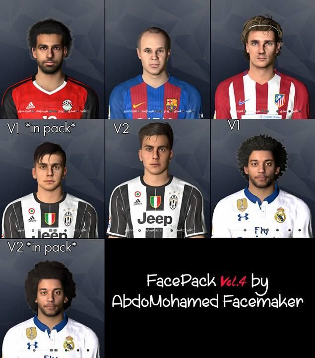 Fc Barcelona Facepack V2 0 By Reza Koolivand: PES 2017 Facepack Vol. 4 By Abdo Mohamed Facemaker
