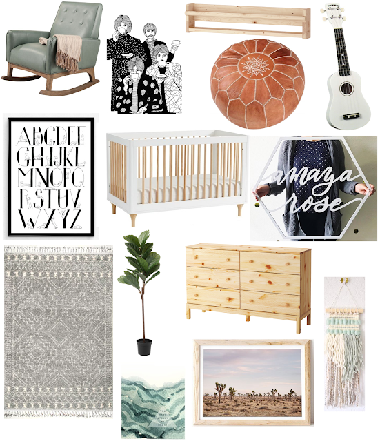 Gender neutral nursery inspiration.