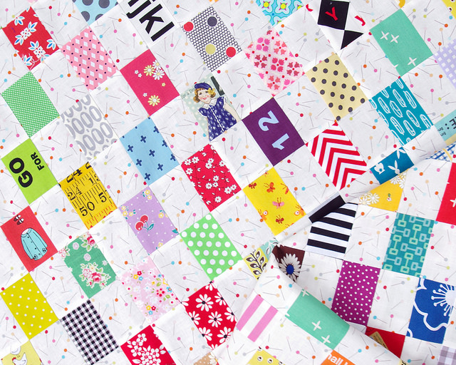 Rectangle Checkerboard Quilt | Strip Pieced | Red Pepper Quilts