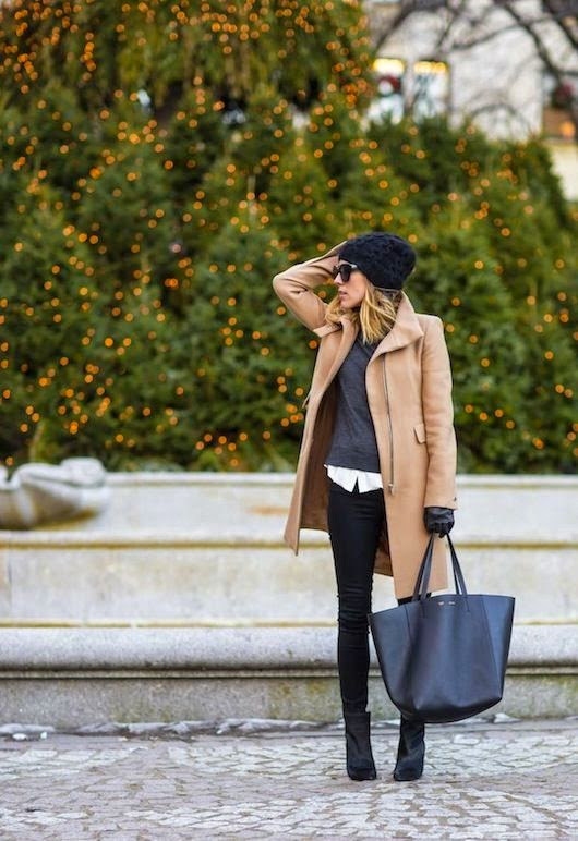 Camel and black are my go to colors this winter – I love the combination together. It's just so classic