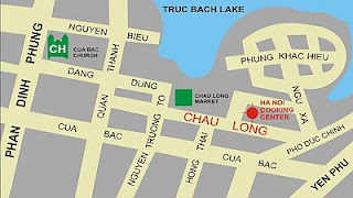 Map of Hanoi Cooking Center location