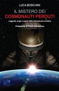 """Copertina del libro """"Il mistero dei cosmonauti perduti"""", di Luca Boschini, quaderni del CICAP."""