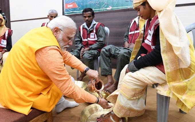 Washing workers feet is an outcome of my 'sanskars': PM Modi