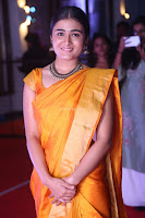 Shalini Pandey in Beautiful Orange Saree Sleeveless Blouse Choli ~  Exclusive Celebrities Galleries 058.JPG