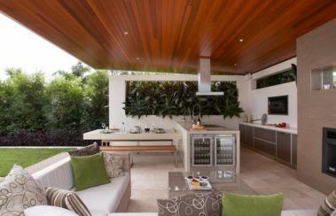 desain kanopi untuk dapur terbuka