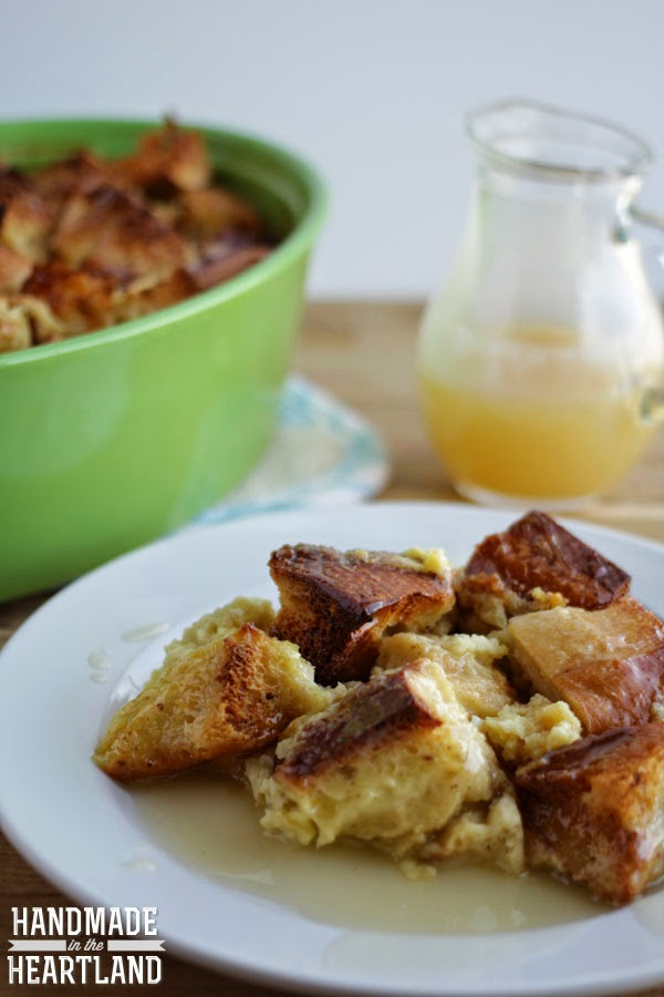 Creme Caramel Bread Pudding with Bourbon Sauce Recipe