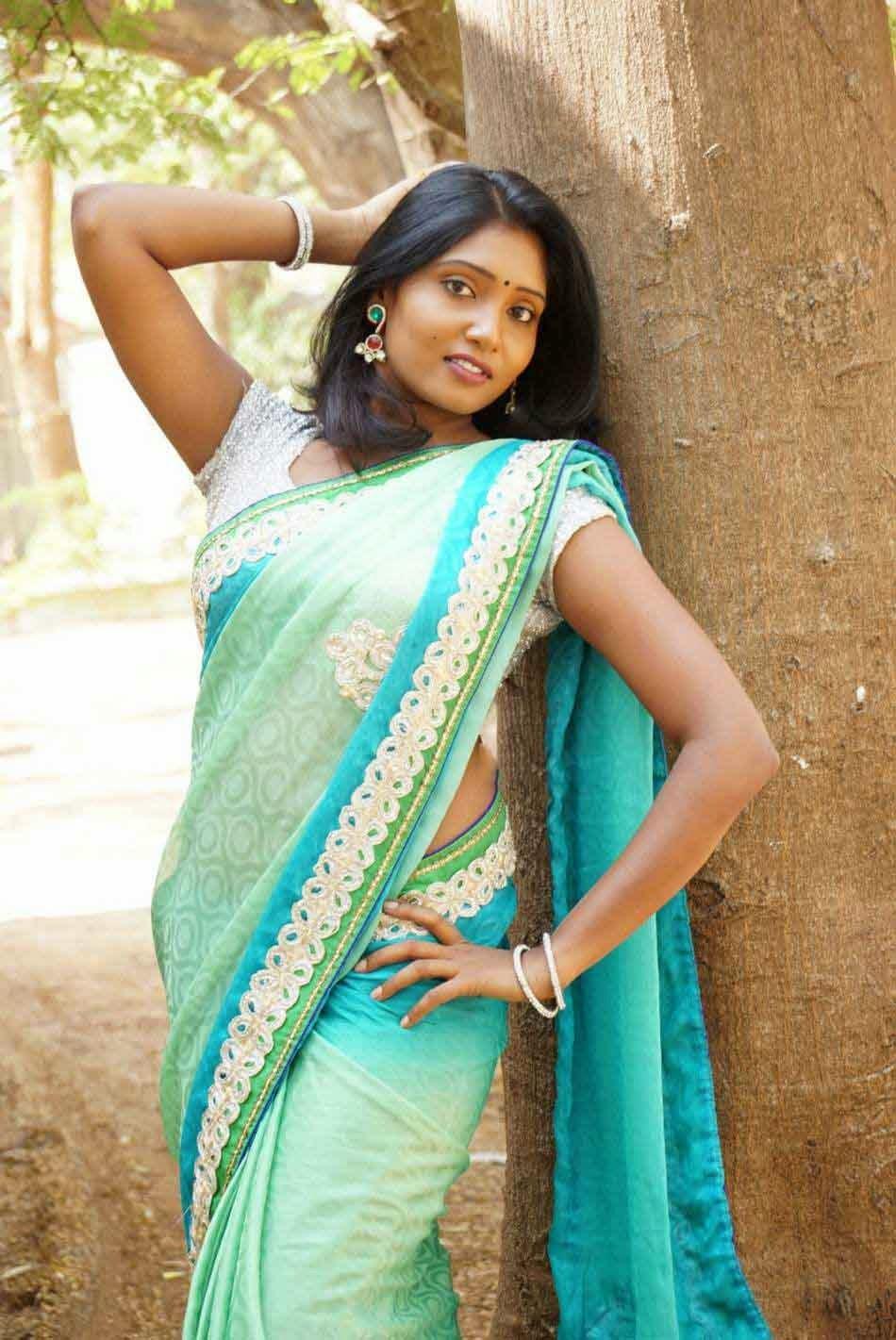 Actress Eesha Hot Looks Saree Stills - Shows Spicy Pose -5168