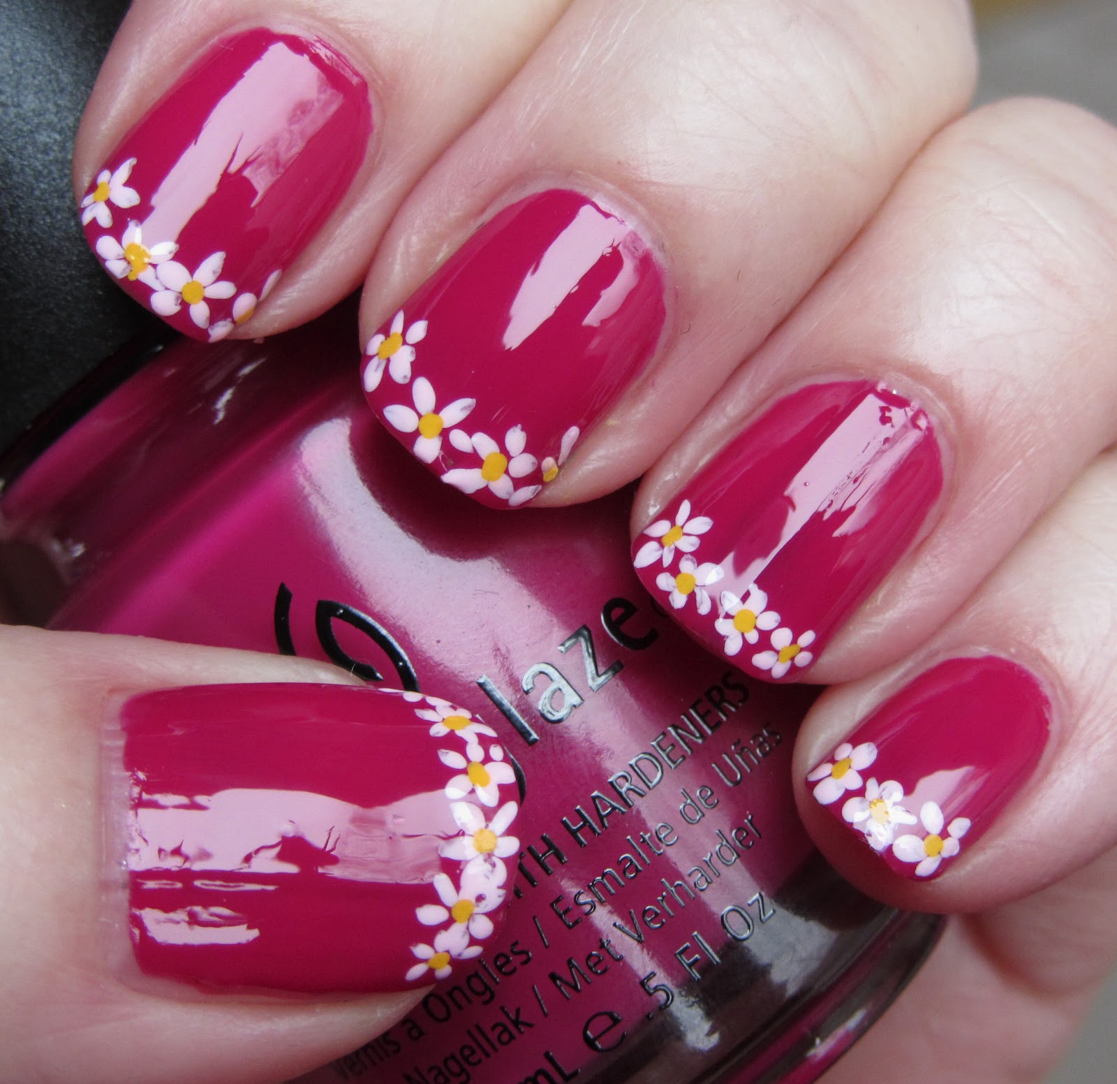 Flower Nail Art French Tip | www.imgkid.com - The Image ...
