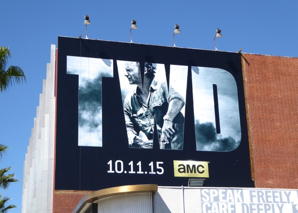 Rick Grimes Walking Dead season 6 billboard