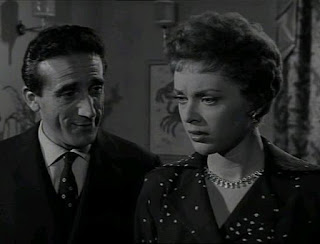 Arnoldo Foà with the actress Milly Vitale in the 1955 film 'Cantami Buongiorno Tristezza'
