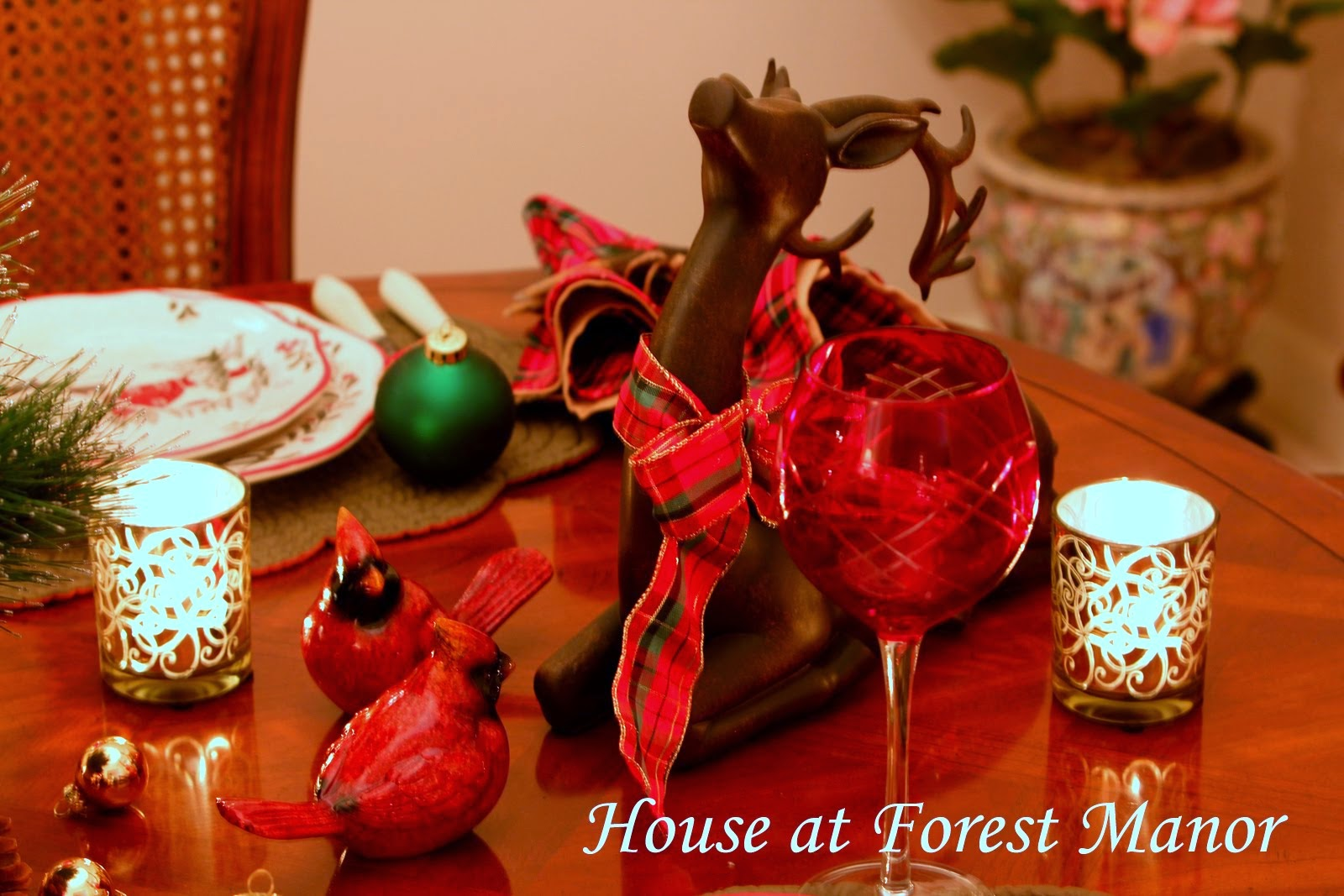Woodland Christmas Tablescape