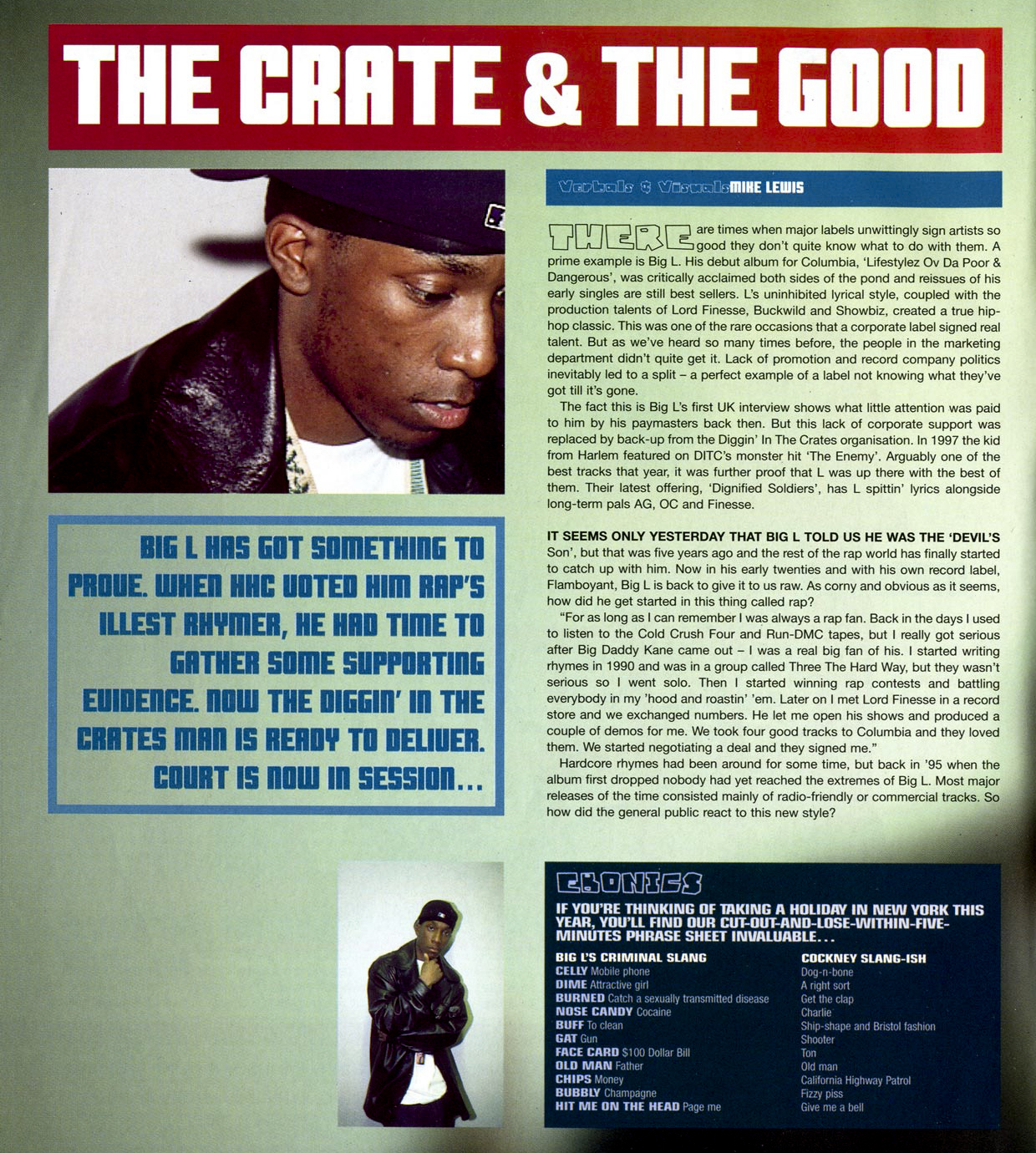 Big L 'The Crate & The Good' (Hip Hop Connection, '98)