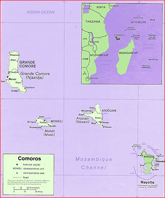 image: Map of Comoros Islands
