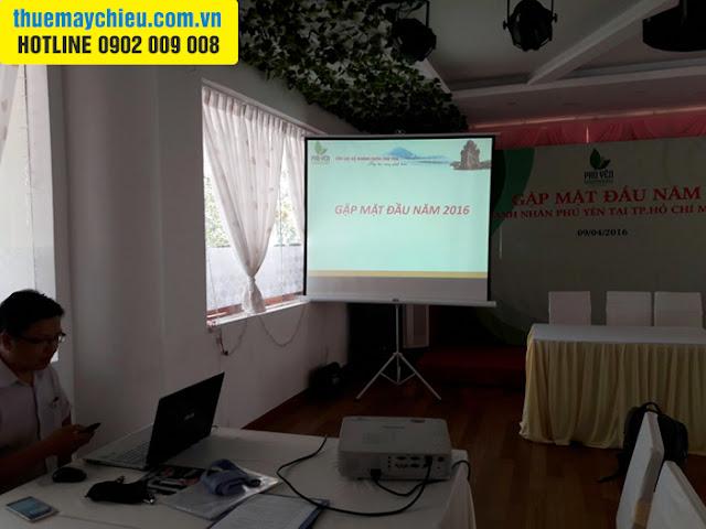 Câu lạc bộ doanh nhân Phú Yên thuê máy chiếu tại VNPC