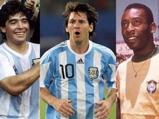 Maradona, Messi y Pelé