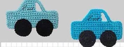 Patrón #878: Figurita Carro a Crochet