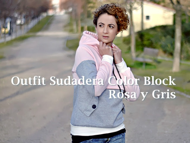 Outfit-sudadera-color-block-rosa-gris-1
