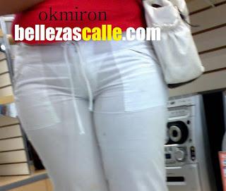 Señora pantalon blanco transparente marca tanga