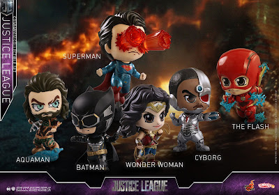 Justice League Movie Cosbaby Mini Figure Series by Hot Toys
