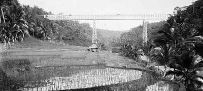 Jembatan Cirahong Tempo Dahulu Dari Bawah