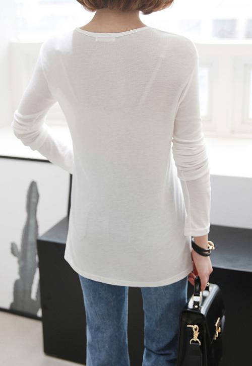 Basic Side Slit Slim Top