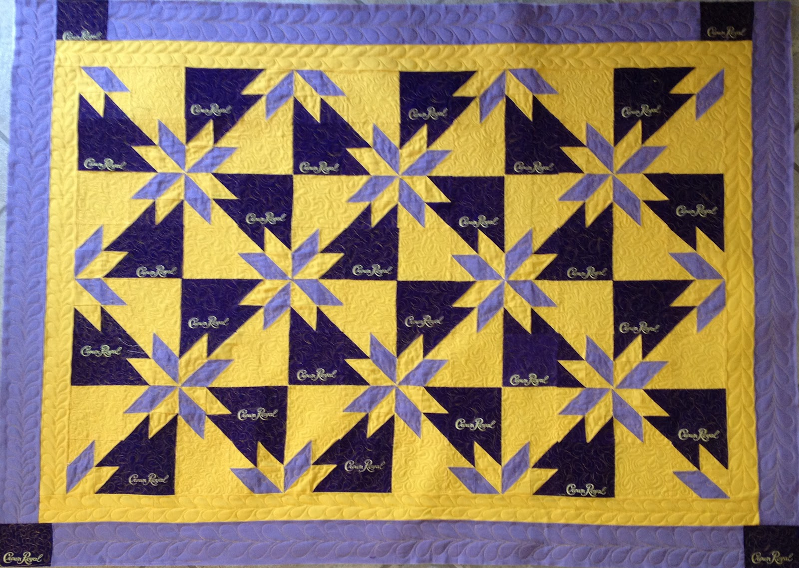 Ros The Quilter Quilting Is My Sanity The Crown Royal Quilt