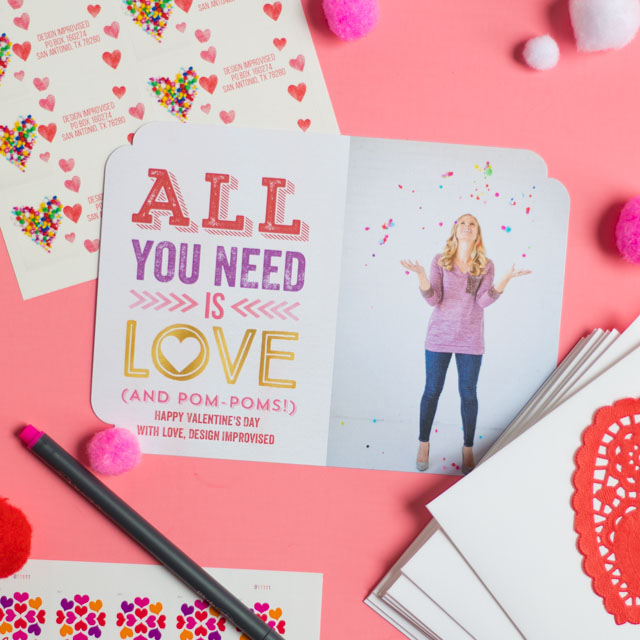Sweet Valentine card ideas from Mixbook! #valentinecards #valentinescards #valentinesdaycards #mixbook