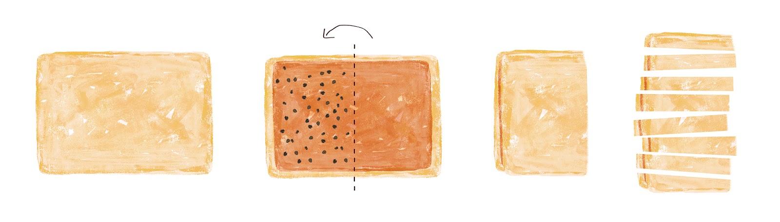 Swedish cinnamon rolls, raisins, breakfast, Minty's Table, Lauren Monaco Illustration