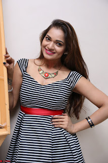 Ashwini in Spicy Short Deep Neck Dress at Pelliki Mundu Prema Katha Trailer Launch Exclusive  21.JPG