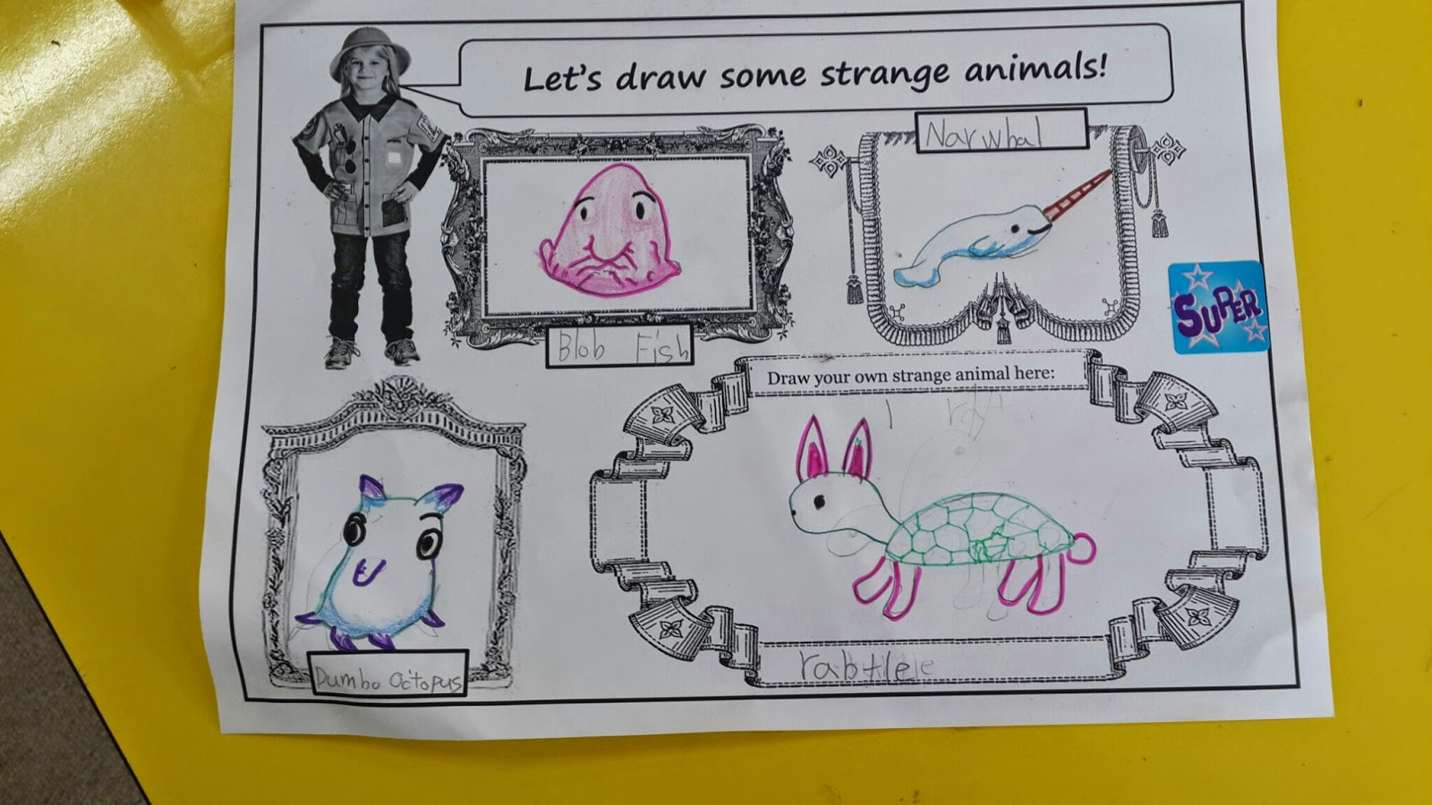 Strange Animals Esl Class Free Ppt And Worksheet Mrs