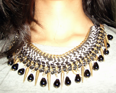 spiked necklace, street shopping, what to buy in colaba causeway, bandra street shopping, thrifty shopping, cheap accessories in mumbai