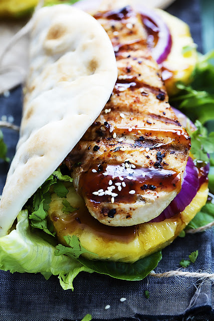 GRILLED PINEAPPLE TERIYAKI CHICKEN WRAPS – APPETIZERS RECIPE