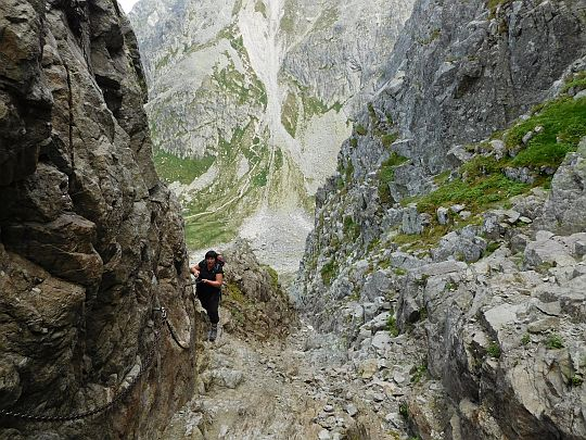 Wejście do Koziej Przełęczy.