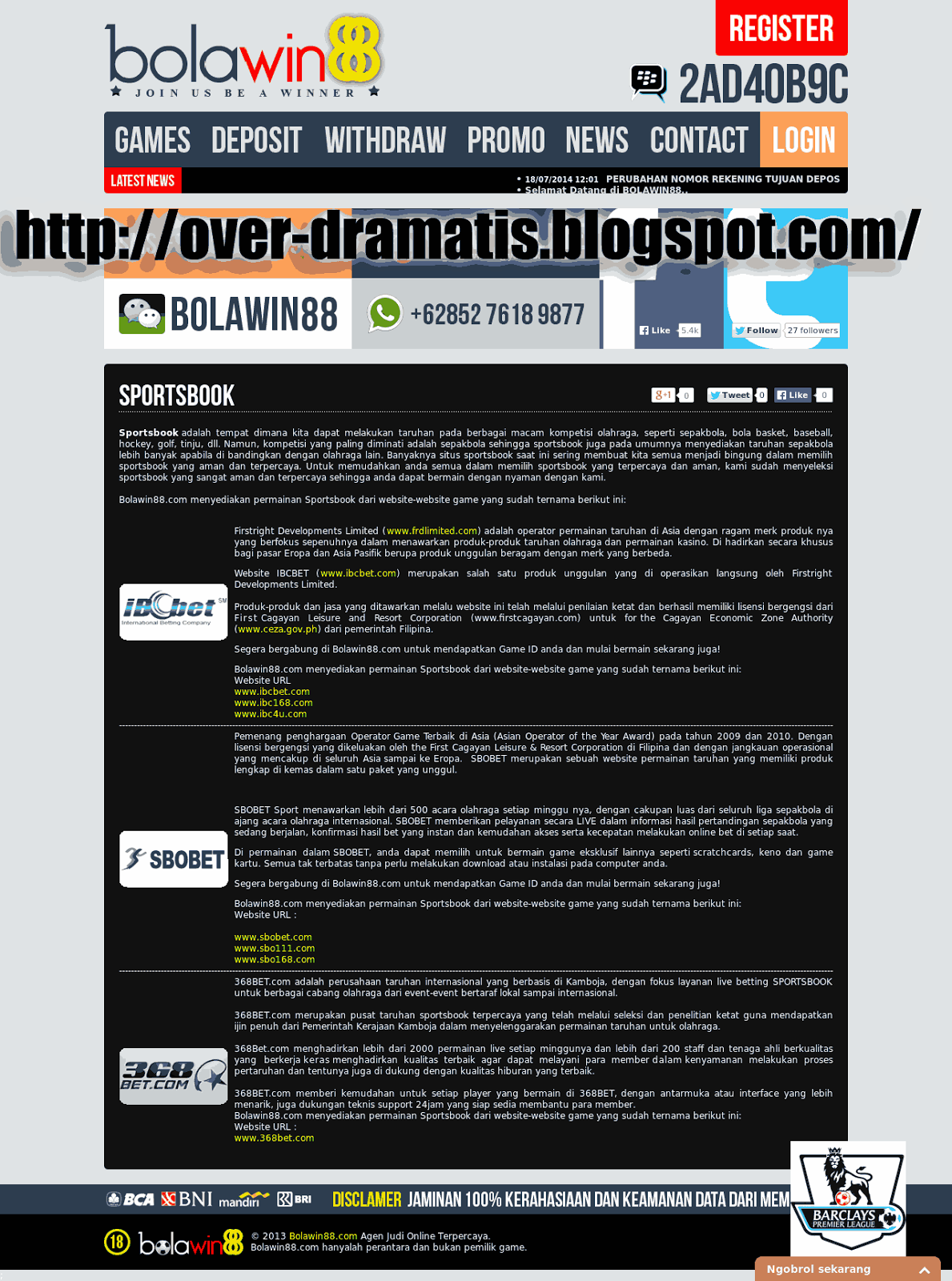 Over Dramatis