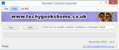 Shoretel Contacts Importer v2.0 Released 1