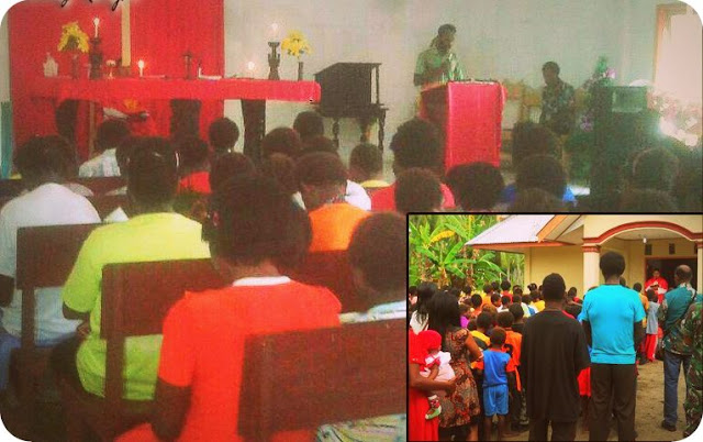 Umat dan TNI Gelar Jumat Agung di Gereja Santa Maria Fatima Pronggo