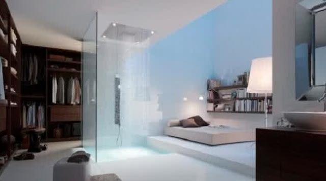 Contoh Desain Kamar Mandi dengan Shower yang Unik