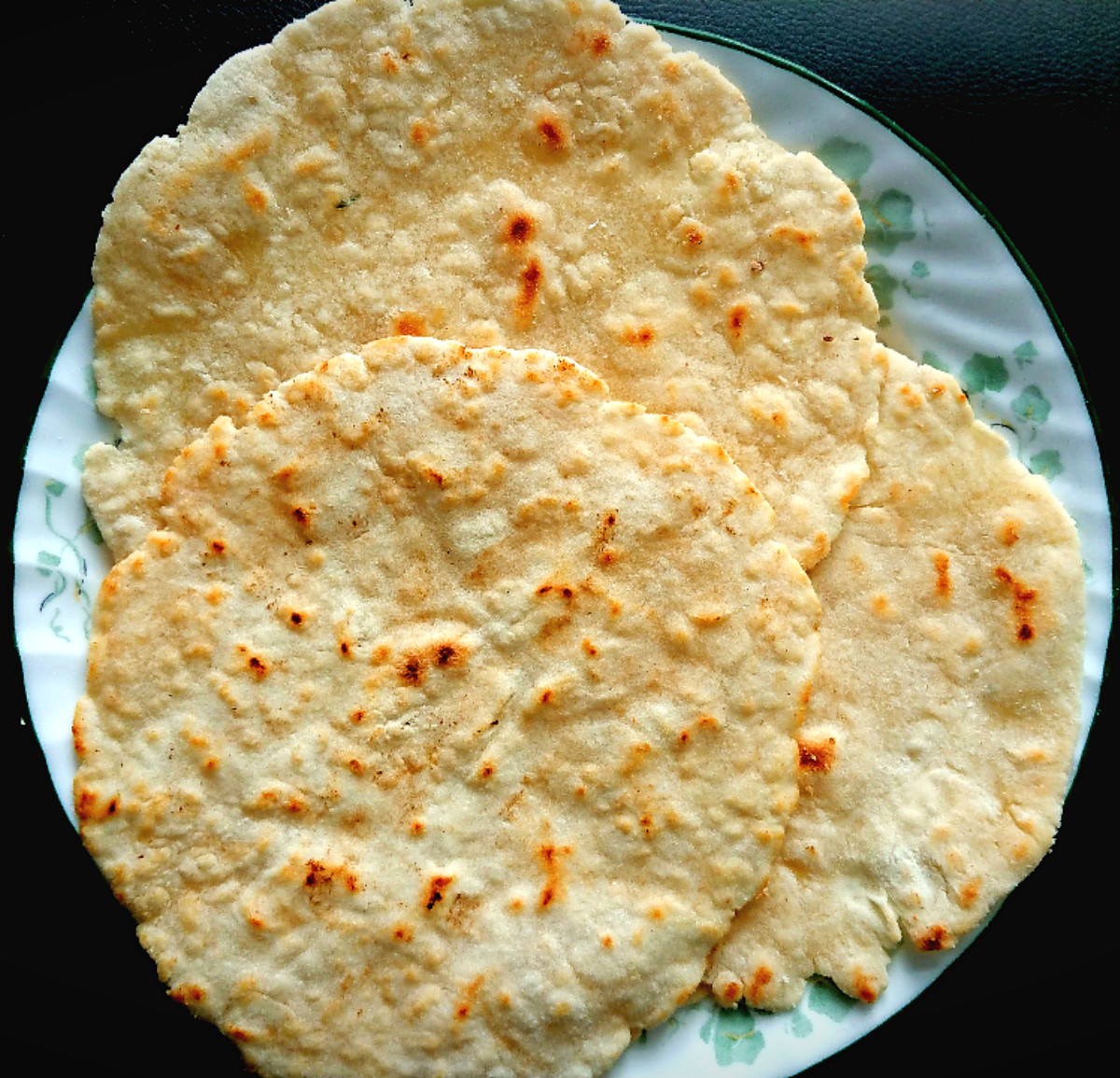 Homemade Gluten Free Flour Tortillas spread on a plate