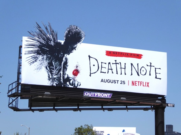 Death Note extension cut-out billboard