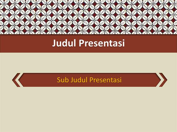 35 Get Inspired For Download Template Ppt Tema Batik Summer Background
