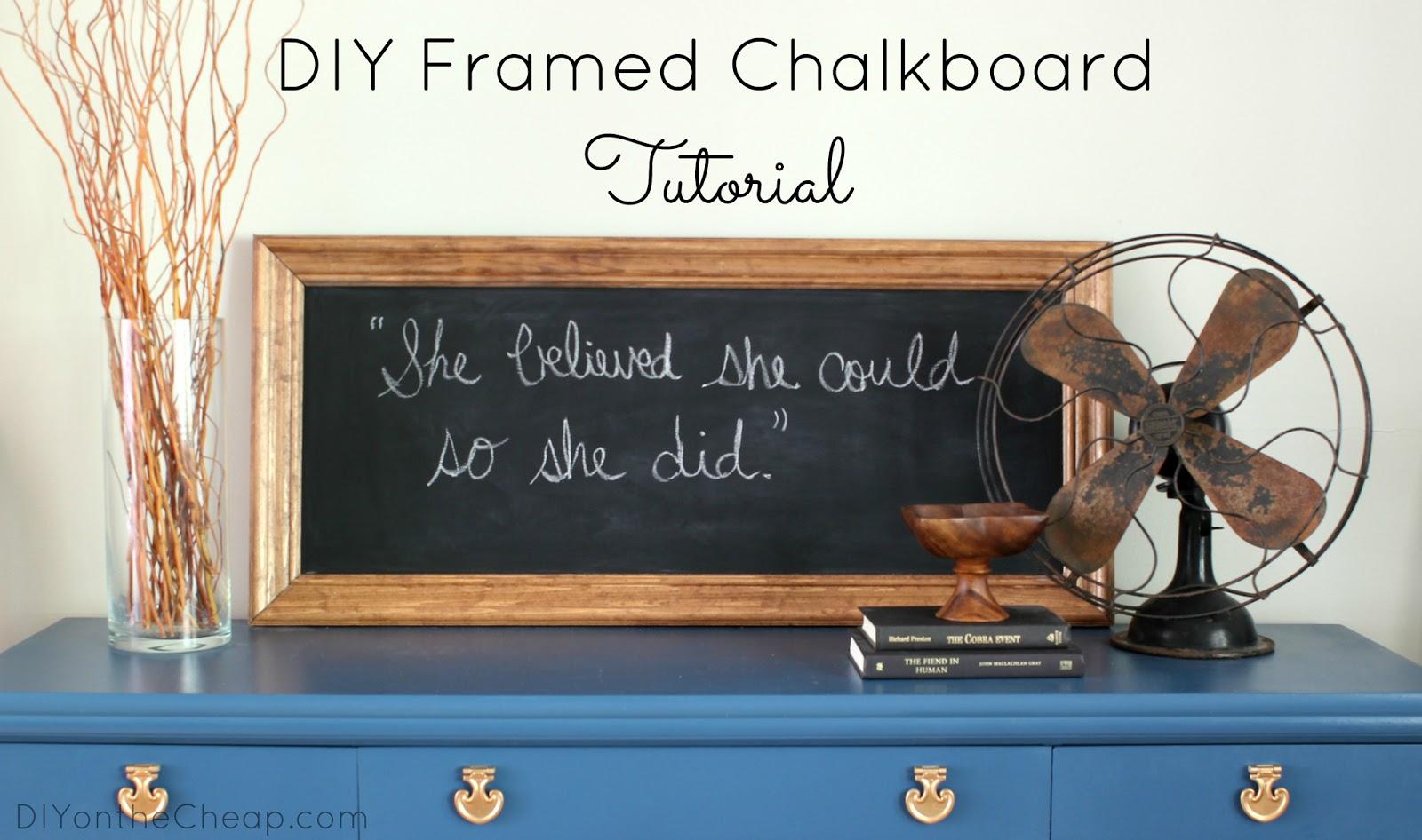 Uncategorized Make Framed Chalkboard diy framed chalkboard tutorial erin spain tutorial