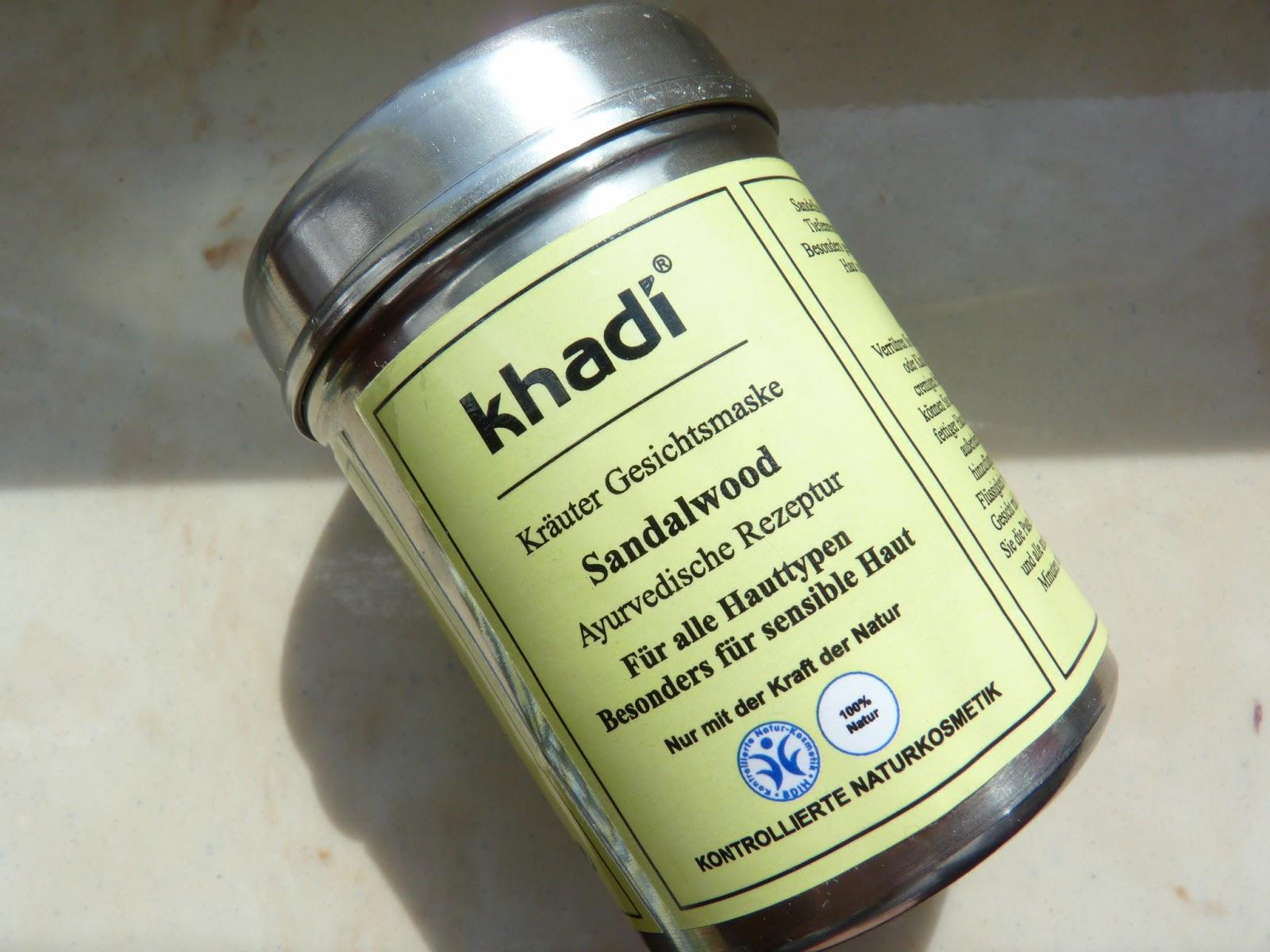 Khadi Maseczka Sandałowa - oczyszczająca cerę przetłuszczającą sie i  problematyczną