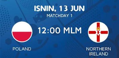 Live Streaming Keputusan Poland Vs Northern Ireland EURO 2016
