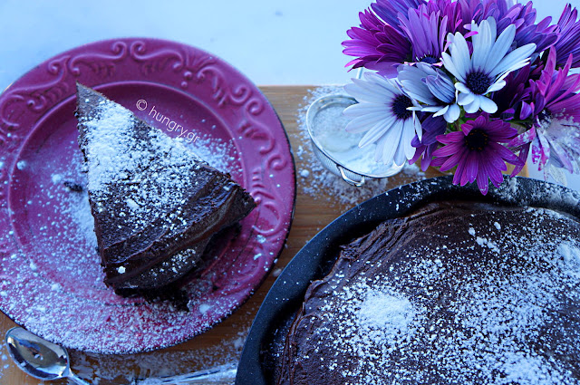 Dark Chocolate Whiskey Cake
